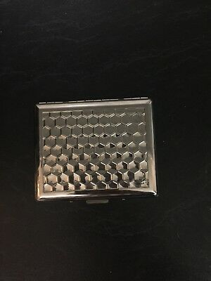 Cigarette Case stainless Steel Hold 20 Cigarettes AU Stock