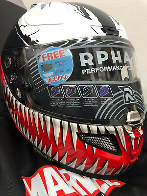 Marvel HJC Helmet VENOM RPHA11 Pro New Large Motorcycle ATV NO RESERVE Spiderman