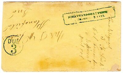 Chattanooga:Tenn, Army Rectangular Postmark on Cover to Plainfield, Indiana.