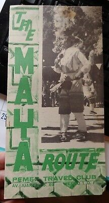 Vintage TRAVEL BROCHURE 1963 THE MAYA ROUTE  MEXICO