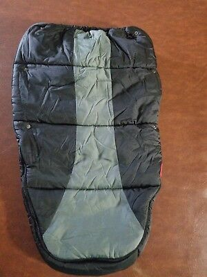 Phil and Ted Stroller Snuggle & Snooze Sleeping Bag Black Grey EUC