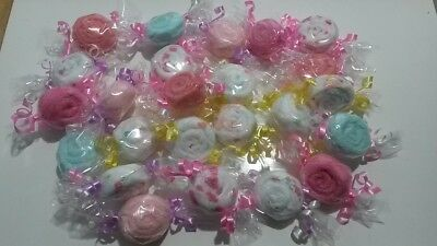 Lot of 24 Washcloth Candies Baby Shower Gift for Girl