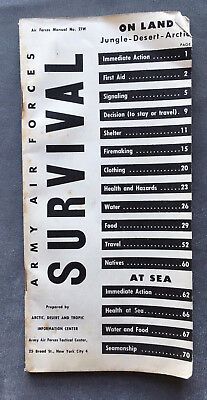 WWII Army Air Forces Survival On Land Jungle Desert Arctic And Sea Manual No 21W