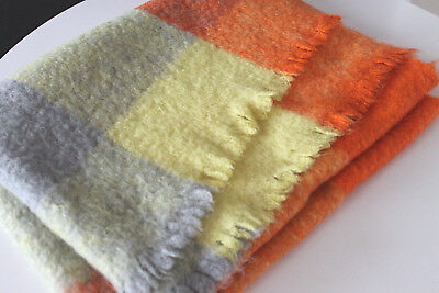 "Danish Modern 100% Felted Wool Hand Woven Throw/Blanket 67""x46"" Color Supreme!"