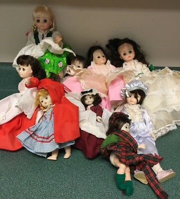 Lot of 9 Madame Alexander dolls  8 - 14 Inches Tall - 1960s
