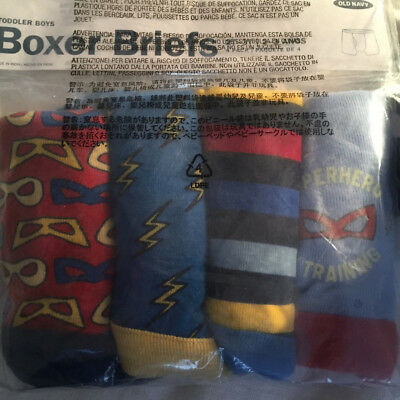 OLD NAVY Boxer Briefs 4-pack Toddler Boys 2T-3T Superhero New In Bag w/ Tags