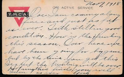"""WWI, Soldiers Mail to Dentist, War Ending for """"Hunting Big Game"""", Nov 9-13 1918"""