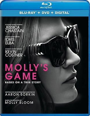 Molly's Game (Bluray & DVD) WITH DIGITAL COPY WITH SLIPCOVER