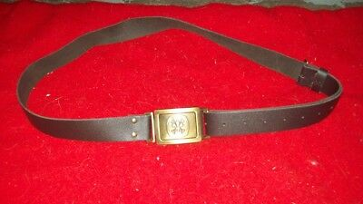 boy scout leader / leather belt / cub scouts / girl guides / brownies/ XL / XMAS