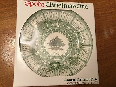 """Spode Christmas Tree Annual Collector Plate 2002, 10"""" New in Pkg S3324-A1"""