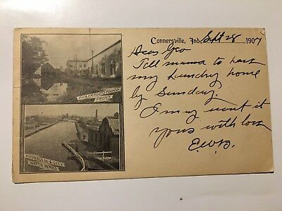 1904 CONNERSVILLE INDIANA FOUNDRY & HYDRAULIC CITY WATER WORKS early post card