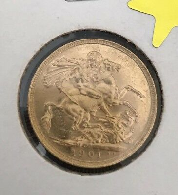 22ct Gold Full Sovereign Coin 1901S Sydney Mint