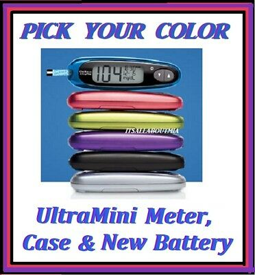 NEW OneTouch Ultra Mini Glucose Meter Monitor, Case & New Battery LifeScan