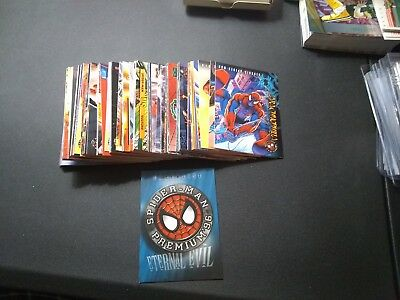 1996 Spider-Man Eternal Evil Premium '96 Fleer Marvel Complete Card Set #1-100