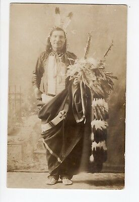 Real photo of Native American  rppc Fort Pierre SD 1909