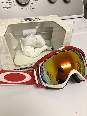 3c96f1bacc3f BRAND NEW OAKLEY CROWBAR MX Goggle Nemesis Red Yellow   Clear OO7025 ...