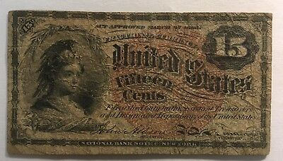1863 Fractional Currency 15 Cent Note