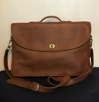 34e25ae473 ... germany vintage coach lexington brown leather briefcase messenger bag w  strap a589f fde0f