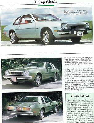 1975 1976 1977 1978 1979 1980  CHEVROLET MONZA TOWN COUPE  COLOR Article