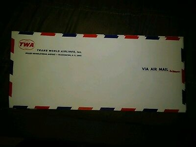10 TWA Trans World Airlines Air Mail Envelopes