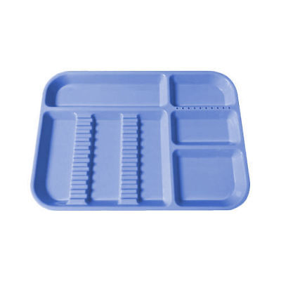 New Dental Separate Divided Set-up Tray Autoclavable Instrument Container Blue