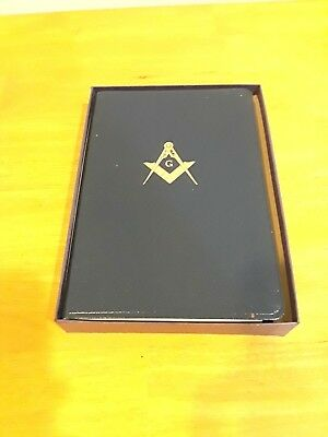 Kelchner Masonic Bible With Box 1968 W/Temple Illustrations Free Shipping!