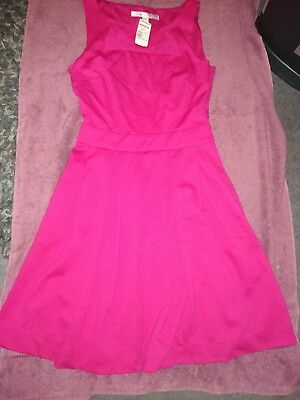 25dbcd9bd0b NWT LAUREN CONRAD On Deck Pink Fit And Flare Dress Keyhole Back Size ...