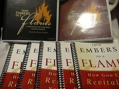 "7 Pc. Set ""from Embers To A Flame"" Set - 5 Workbooks, Cd's & Dvd's-Harry Reeder"
