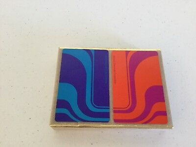 Vintage Playing Cards Red And Blue Congress Cel-U-Tone Finish Retro Wave 2 Decks