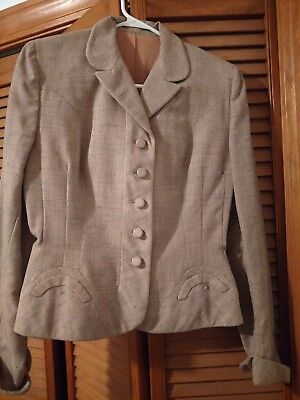 Vintage National Board Coat and Suit Industry Pink/beige Blazer womens Size xs