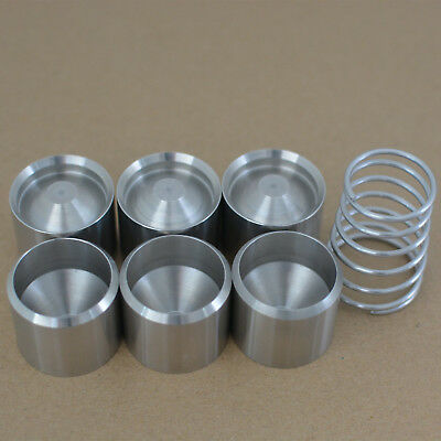 "6PCS D cell stainless steel dry storage cup for 8.25"" Hiking stick adapter tube"