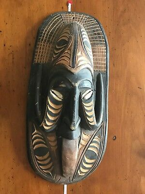 Old Carving / Mask Artifact - Papua New Guinea - Vintage from 1970's approx