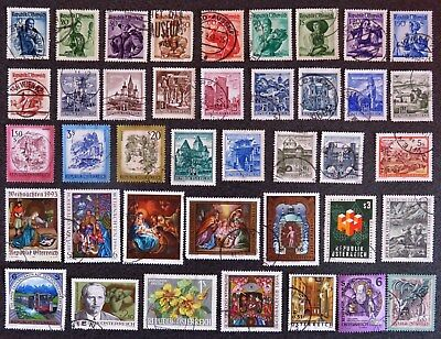 Austria Stamp Collection Of 40 Different Used Stamps All Unhinged