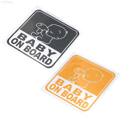15E4 PVC Baby On Board Graphic Car Vehicle Reflective Safety Warning Sticker
