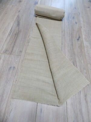 Homespun Fabric 1920s mix Hemp&Cotton 50x400cm Raw Gray Never used