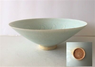 Chinese Antique Shadow Celadon Porcelain Bowl Song Porcelain Very Thin