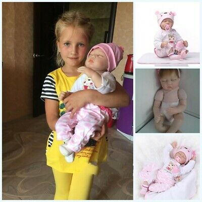 Real Life Like Looking 22inch Vinyl Silicone Reborn Newborn Baby Dolls Xmas Gift