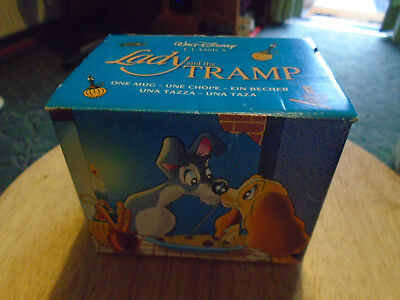 Disney Classic Boxed Mug Lady And The Tramp - Walt Disney Made in England