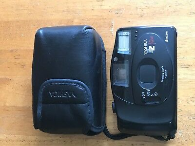 Yashica Ez View Film Camera With Leather Case In Excellent Condition!!