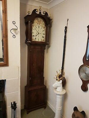 Antique McGregor Edinburgh Grandfather Clock. Original Case and movement