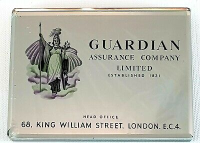 Guardian Assurance Company London Collectable Paperweight Mirrored Glass Decor