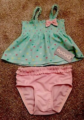 Baby Girls 2 Piece Swimwear Cozzie Swimmers - Size 1