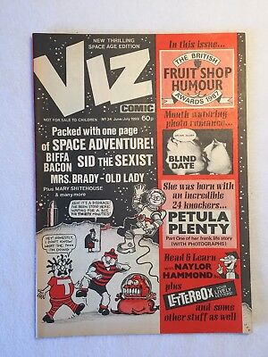 Viz comic - Issue 24 - Excellent  condition - June/July 1987 - Over 18s only.