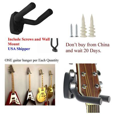 Guitar Hanger Stand Holder Wall Mount Display Acoustic Electric Guitar O721 EC
