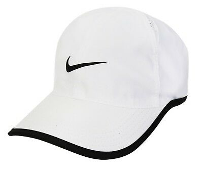 d712371314a Nike Court Feather light Tennis Caps Hat White Dri-Fit Head-wear Cap 679421