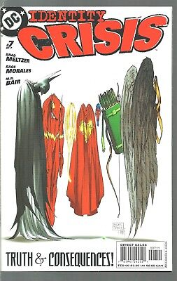 Dc Comics  Identity Crisis  #7  Justice League Of America   Nm Or Better  2005