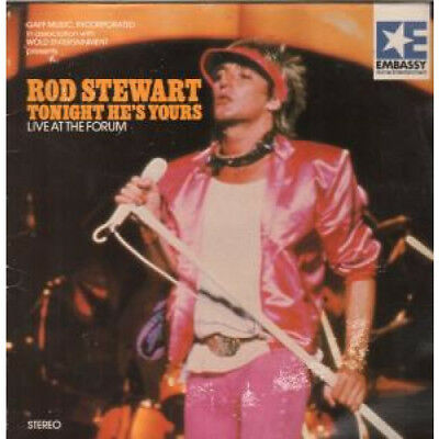 ROD STEWART Tonight He's Yours LASER DISC UK Embassy 1982 17 Track Live At The