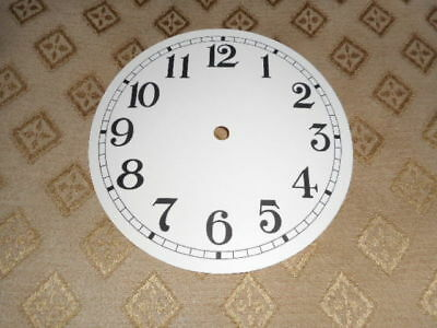 "Round Paper Clock Dial - 3"" M/T- Arabic - MATT CREAM - Face / Clock Parts/Spares"