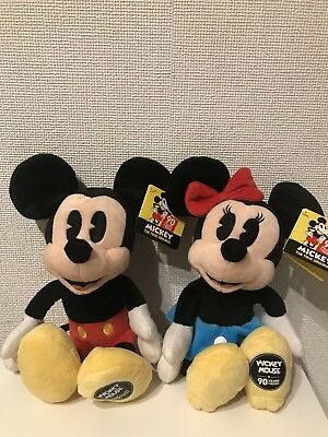 Disney Mickey Mouse And Minnie Mouse 90 Years Plush Soft Toys NEW