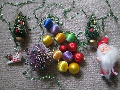 Small Job Lot Of True Vintage Retro Christmas Tree Decorations,xmas Baubles Etc.